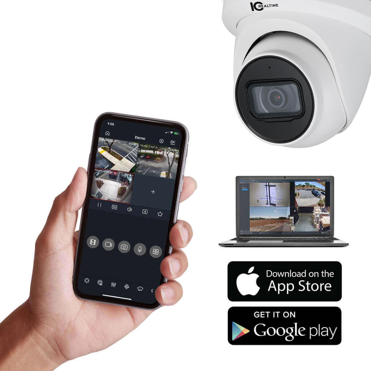 iPixo Cam/éra de s/écurit/é int/érieure WiFi IP HD Interphone pour enfants /âg/és